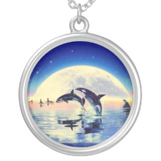 Orca de la orca colgante redondo