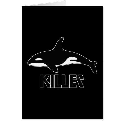Orca de la orca de la muerte tarjeton