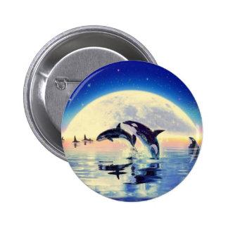Orca de la orca pin redondo 5 cm