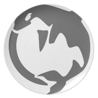 orca de la orca plato para fiesta