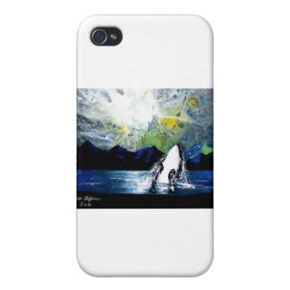 ORCA DE LA ORCA QUE SE DIVIERTE EN THE SUN iPhone 4 CÁRCASAS