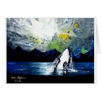 ORCA DE LA ORCA QUE SE DIVIERTE EN THE SUN FELICITACIÓN
