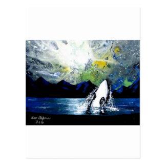 ORCA DE LA ORCA QUE SE DIVIERTE EN THE SUN TARJETAS POSTALES