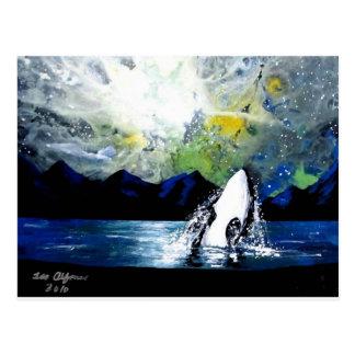 ORCA DE LA ORCA QUE SE DIVIERTE EN THE SUN TARJETA POSTAL