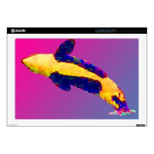 Orca de la orca que viola en colores brillantes calcomanía para 43,2cm portátil