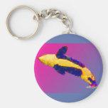 Orca de la orca que viola en colores brillantes llaveros personalizados