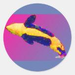 Orca de la orca que viola en colores brillantes pegatina