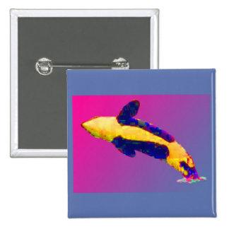 Orca de la orca que viola en colores brillantes pin