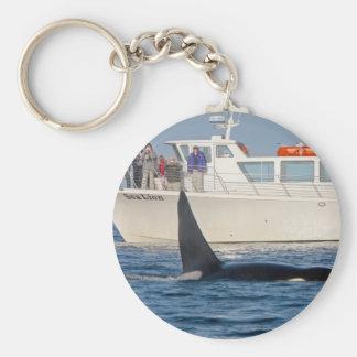 Orca de la orca - transeúnte, Washington Llavero Redondo Tipo Pin