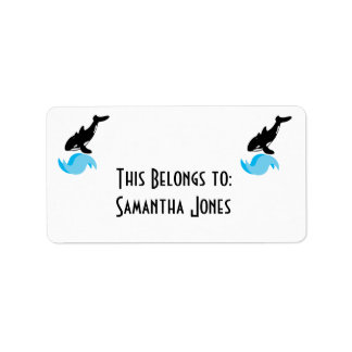 orca de salto etiqueta de dirección