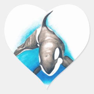 Orca Deep Dive Heart Sticker
