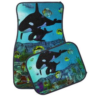 ORCA del acuario de la exploración 3D Alfombrilla De Coche