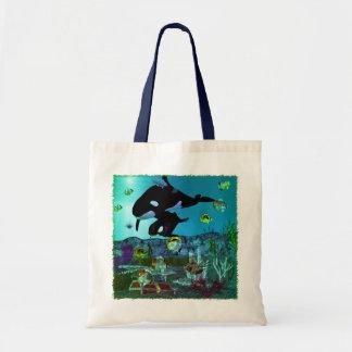 ORCA del acuario de la exploración 3D Bolsa Tela Barata