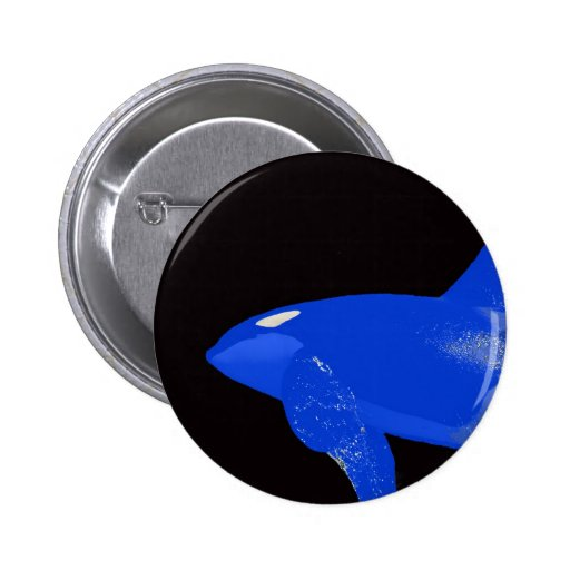 Orca del azul de sábado pin