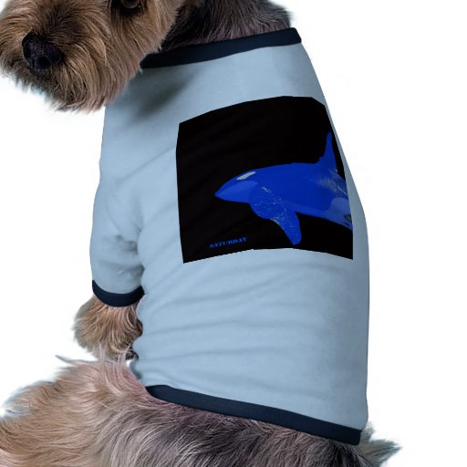 Orca del azul de sábado camiseta con mangas para perro