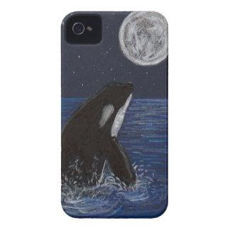 Orca del claro de luna carcasa para iPhone 4 de Case-Mate