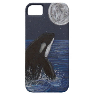 Orca del claro de luna funda para iPhone SE/5/5s