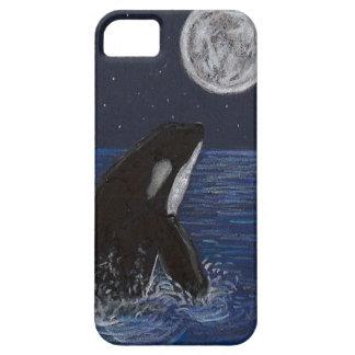 Orca del claro de luna iPhone 5 carcasa