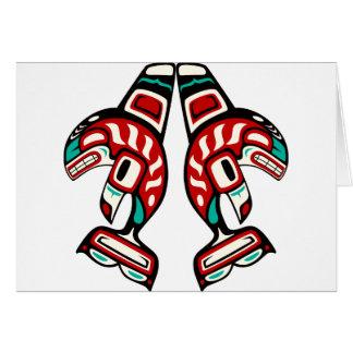 Orca del indio del Haida Tarjeta De Felicitación