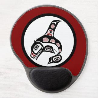 Orca del noroeste del arte del Haida de la Costa Alfombrilla Gel