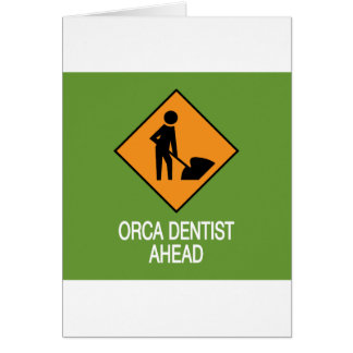 Orca Dentist this way Greeting Card