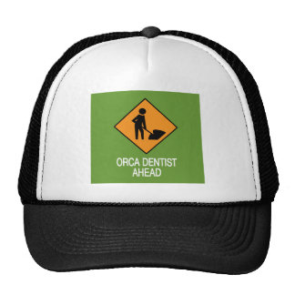 Orca Dentist this way Trucker Hats