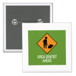 Orca Dentist this way Pinback Button