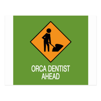 Orca Dentist this way Postcard