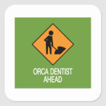 Orca Dentist this way Stickers