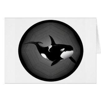 ORCA EN LA NOCHE TARJETA DE FELICITACIÓN