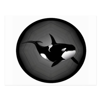 ORCA EN LA NOCHE TARJETA POSTAL