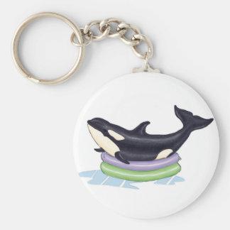 Orca en una piscina de los niños llavero personalizado