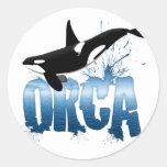 ORCA ETIQUETA REDONDA