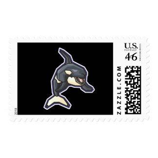 orca feliz de la orca franqueo