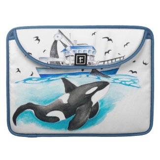 Orca Fishing Boat Sleeve For MacBook Pro