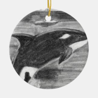 Orca Freedom Ceramic Ornament