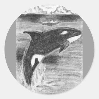 Orca Freedom Classic Round Sticker