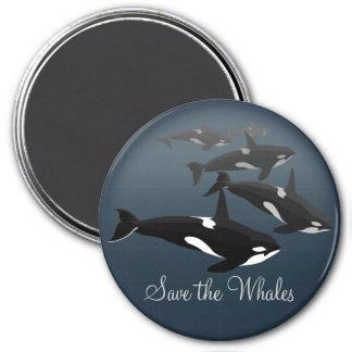 Orca Fridge Magnet Custom Killer Whale Art Magnet