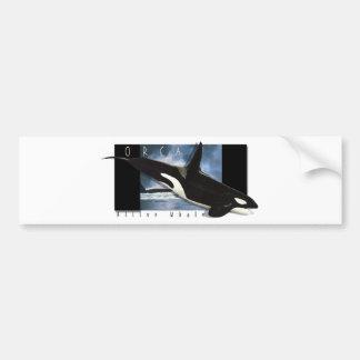 Orca graphic art design bumper sticker
