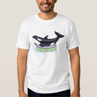 Orca in a kids swimming pool tshirts