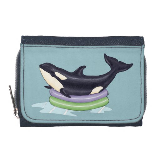 Orca in a swimming pool wallets