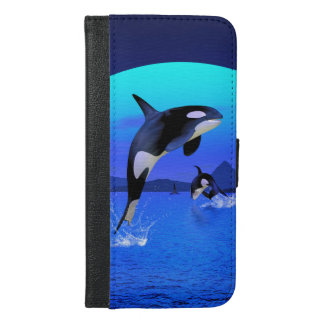 Orca In The Blue Sunset iPhone 6/6s Plus Wallet Case