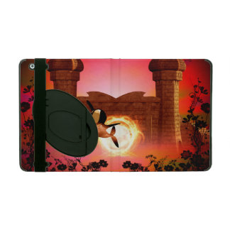Orca in the sunset iPad case