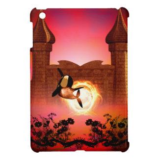 Orca in the sunset iPad mini cover