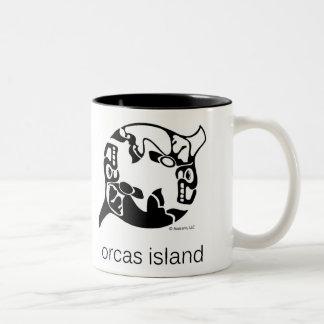 Orca - isla de las orcas - Tao Yin Yang - orca Taza De Café De Dos Colores