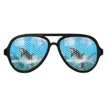 Orca jumping aviator sunglasses