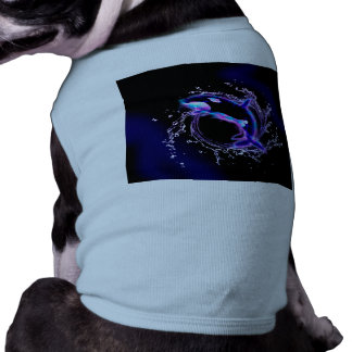 Orca jumping by a circle made of water doggie tee