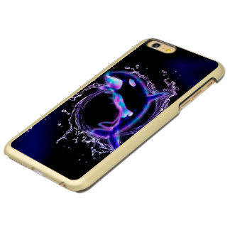 Orca jumping by a circle made of water incipio feather® shine iPhone 6 plus case