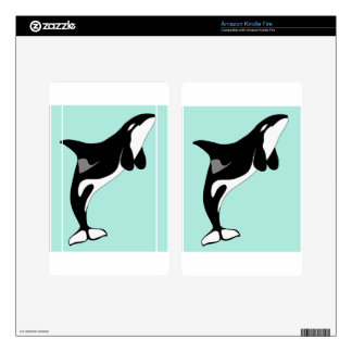 Orca Jumping Decals For Kindle Fire
