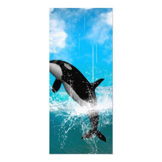 Orca jumping custom invitation